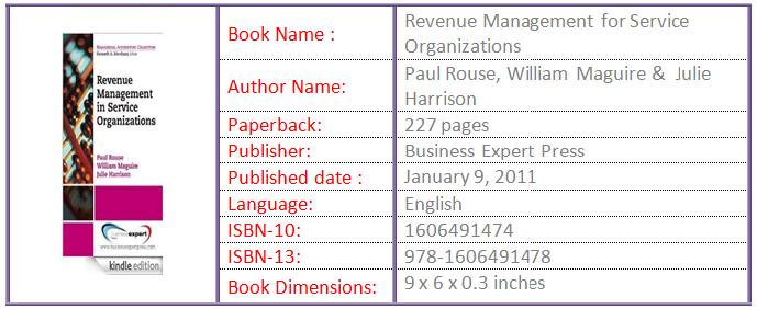 Revenue management for service organization