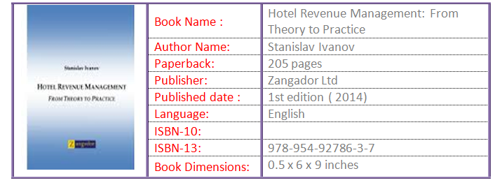 Hotel Revenue Management From Theory to Practice1