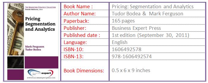Pricing Segmentation and Analytics 1