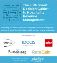 The 2016 Smart Decision Guide to Hospitality Revenue Management